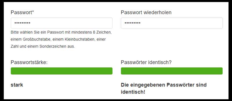 Passwort schreiben